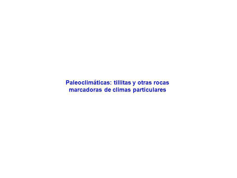 Paleoclimáticas: tillitas y otras rocas marcadoras de climas particulares