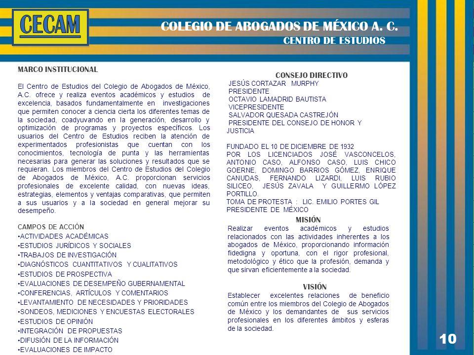 10 COLEGIO DE ABOGADOS DE MÉXICO A. C.