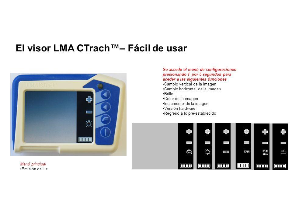 Menú principal Emisión de luz Se accede al menú de configuraciones presionando F por 5 segundos para aceder a las siguientes funciones Cambio vertical