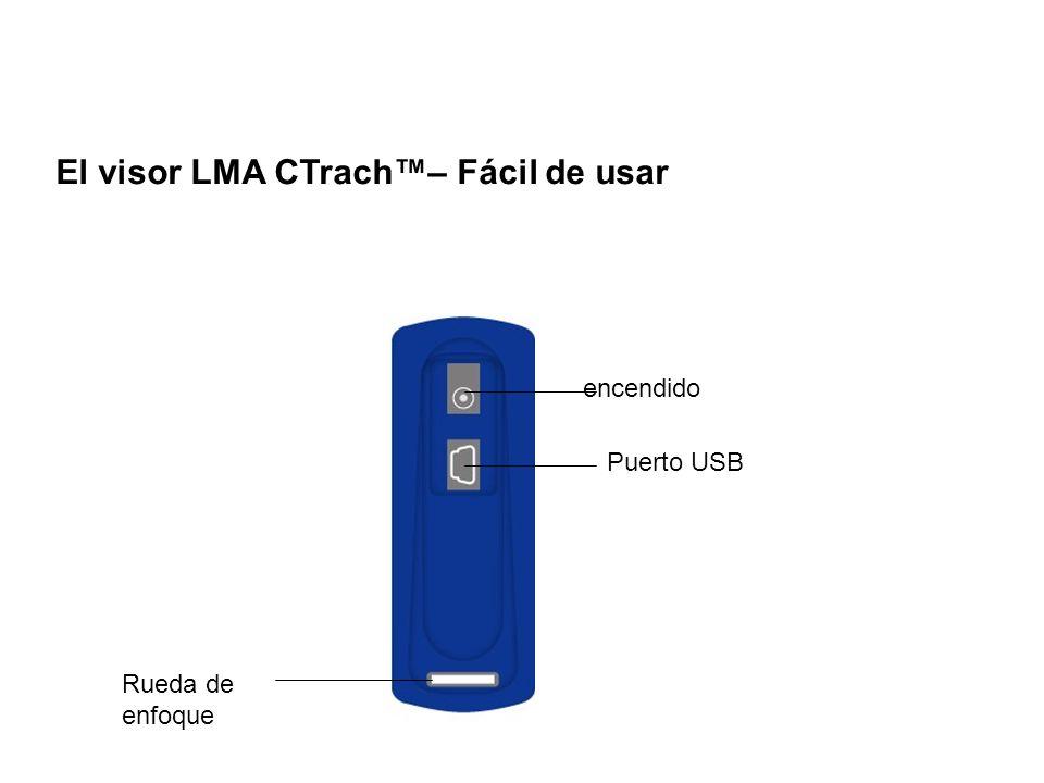 Rueda de enfoque Puerto USB encendido