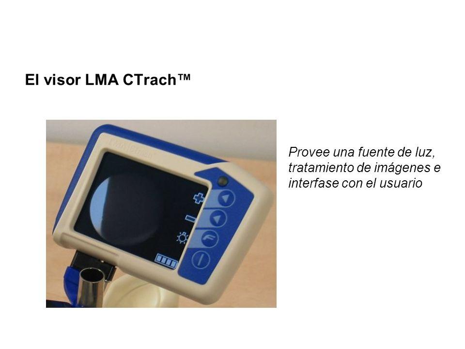 El visor LMA CTrach Provee una fuente de luz, tratamiento de imágenes e interfase con el usuario