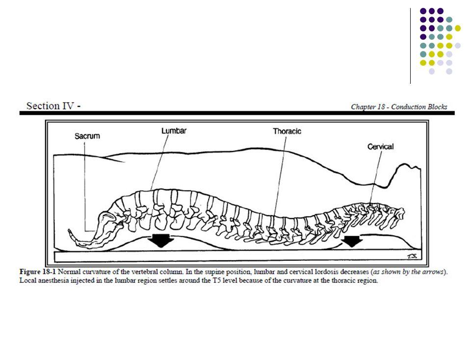 EFECTOS FISIOLOGICOS EFECTOS CARDIOVASCULARES Disminución de: FC (B) – fibras de T1 a T4 TA (1) – fibras de T1 a L2 Simpatectomia y nivel sensitivo similar Vasodilatacion arterial y VENOSA Disminución de FC por descenso en llenado de aurícula derecha (receptores de estiramiento) Descenso de TAM, FSC, flujo coronario aun no determinados claramente