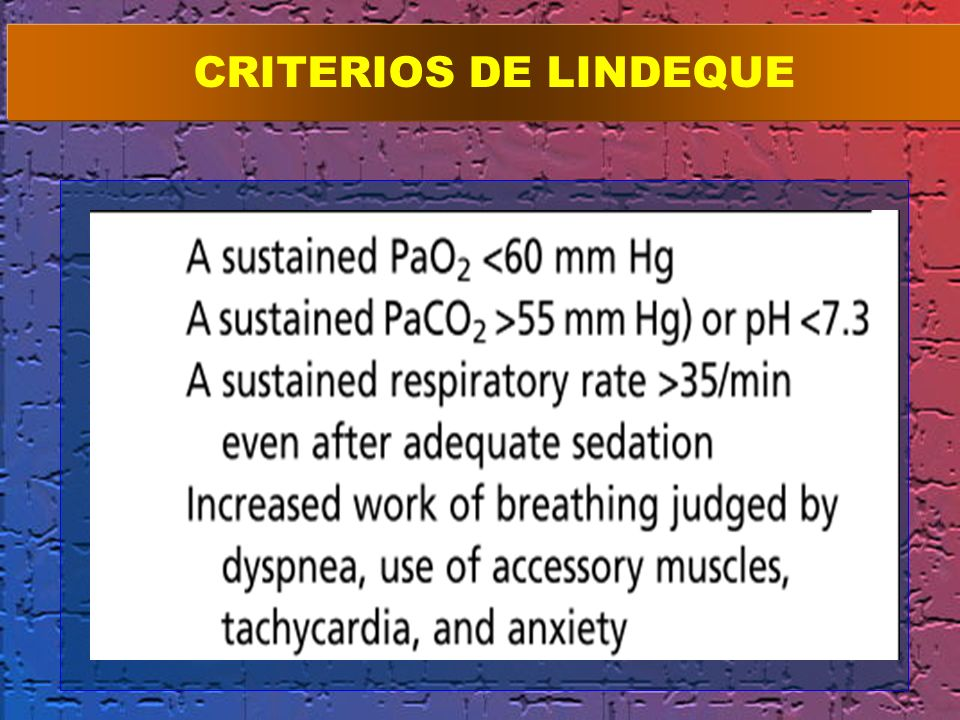 CRITERIOS DE LINDEQUE