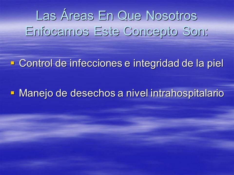 Las Áreas En Que Nosotros Enfocamos Este Concepto Son: Control de infecciones e integridad de la piel Control de infecciones e integridad de la piel M