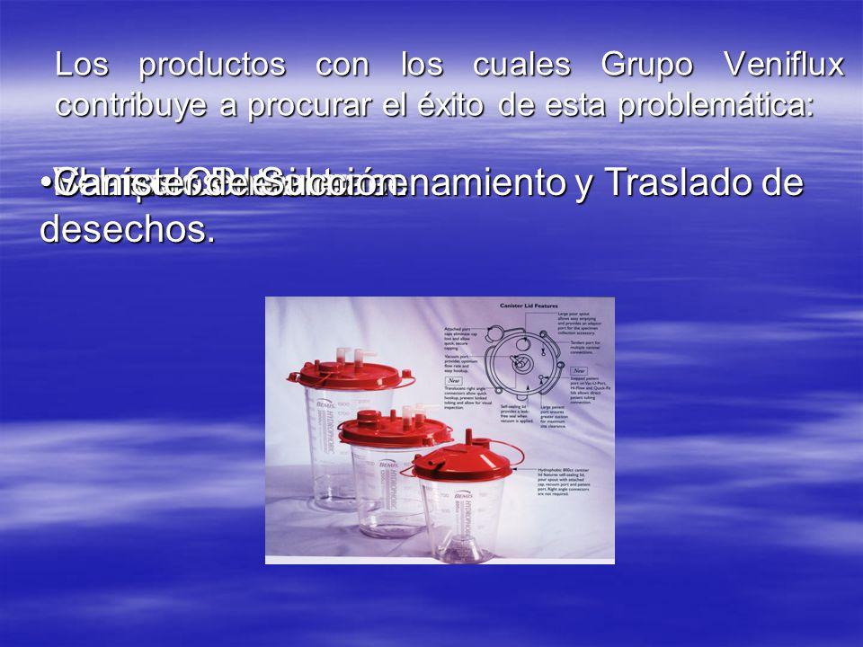 Los productos con los cuales Grupo Veniflux contribuye a procurar el éxito de esta problemática: Barreras ProtectorasBarreras Protectoras Sharps Conta