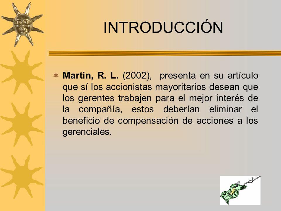INTRODUCCIÓN Martin, R. L.