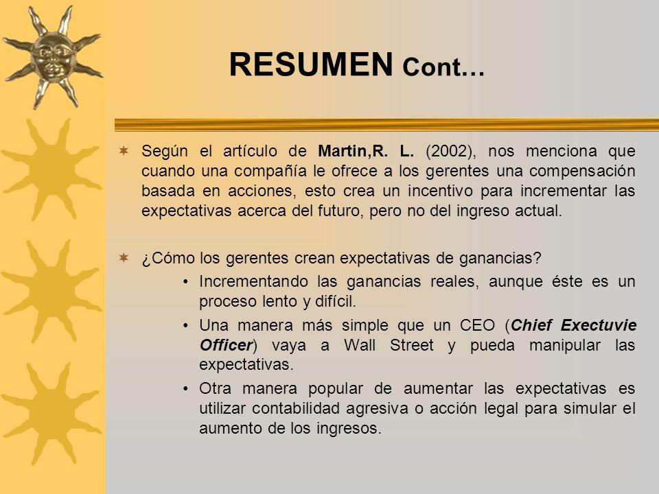 RESUMEN…Cont Martin, R.L.
