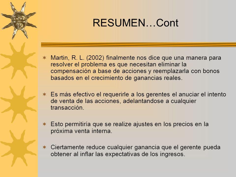 RESUMEN…Cont Martin, R. L.