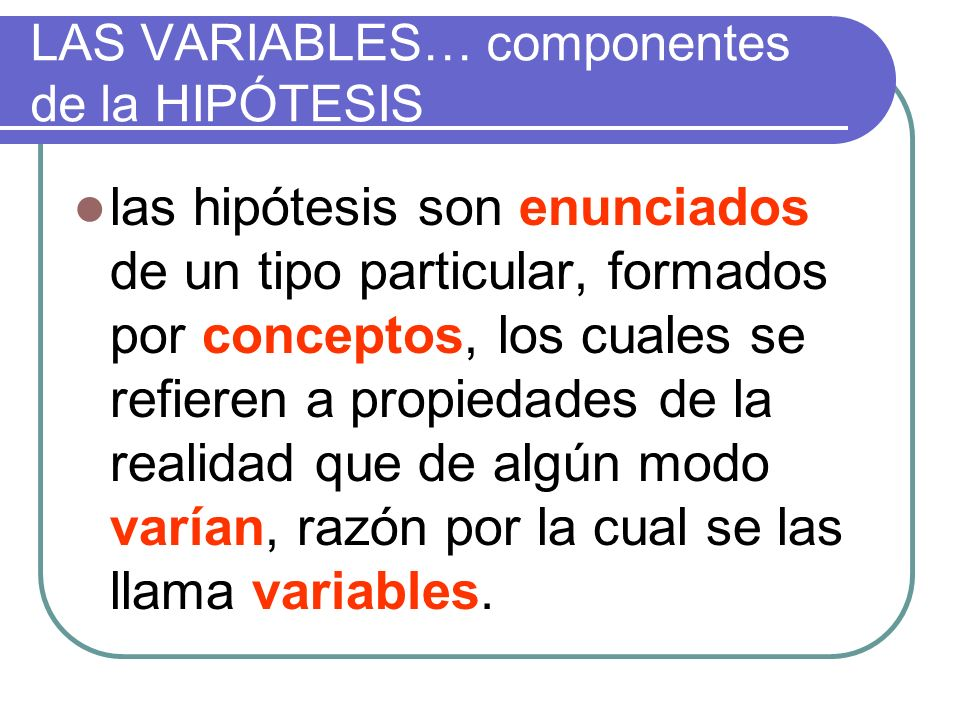 Ejemplo nos plantea una hipótesis a partir de la cual se trabaja dos variables independientes y una dependiente.