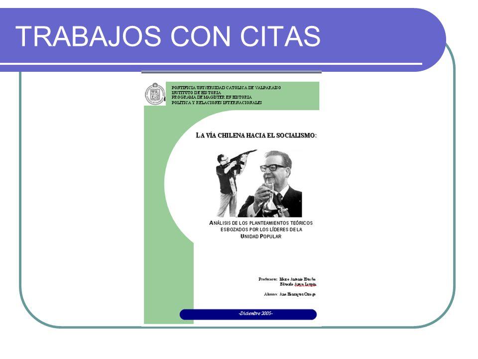 TRABAJOS CON CITAS