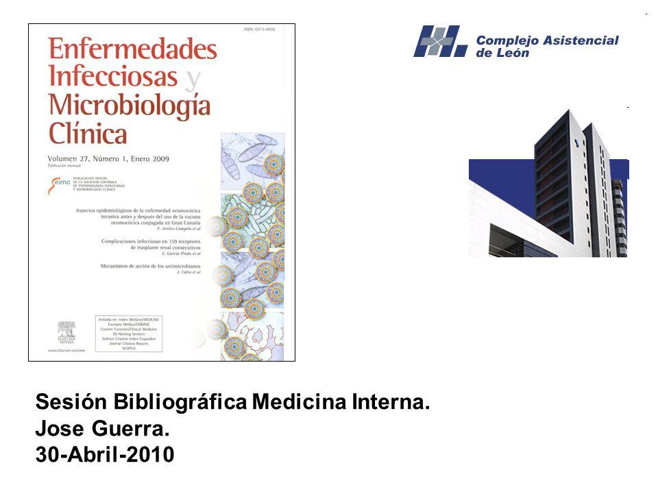 Sesión Bibliográfica Medicina Interna. Jose Guerra. 30-Abril-2010