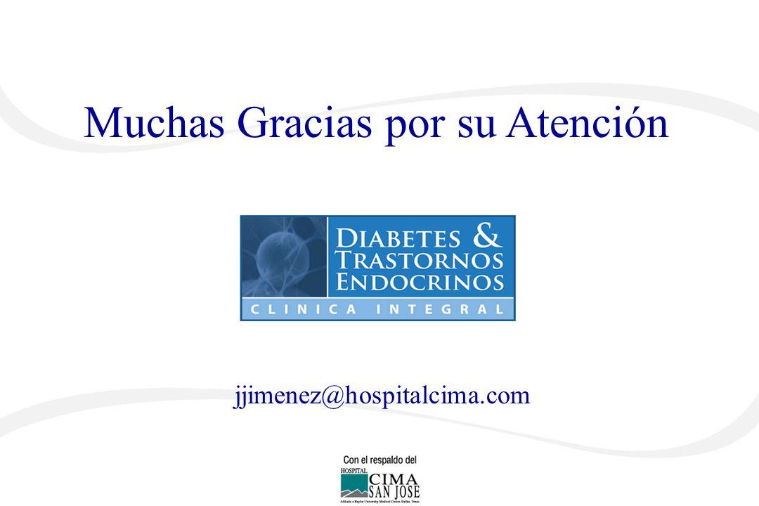 Muchas Gracias por su Atención José G. Jiménez Montero jjimenez@hospitalcima.com