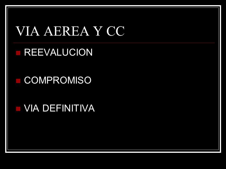 VIA AEREA Y CC REEVALUCION COMPROMISO VIA DEFINITIVA