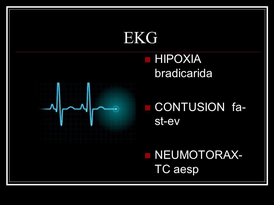 EKG HIPOXIA bradicarida CONTUSION fa- st-ev NEUMOTORAX- TC aesp