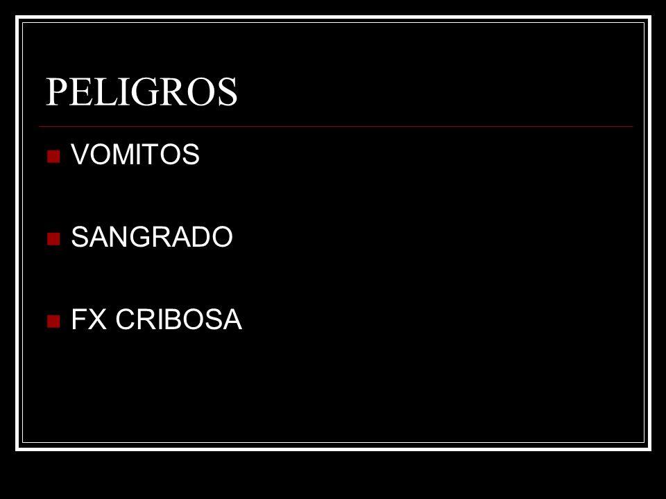 PELIGROS VOMITOS SANGRADO FX CRIBOSA