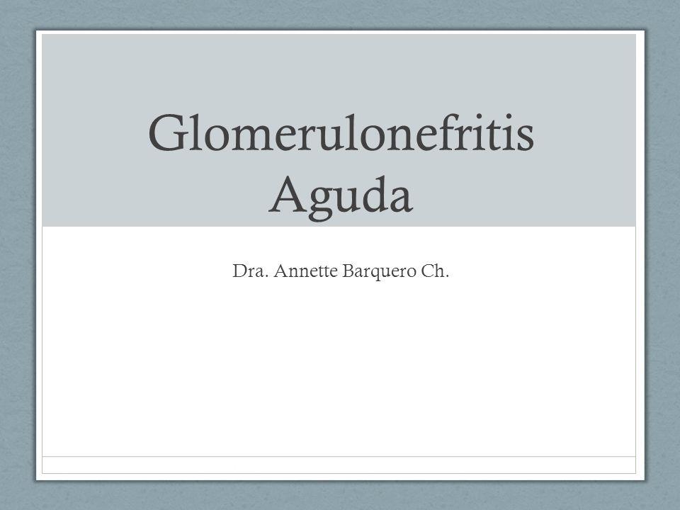 Glomerulonefritis Aguda Dra. Annette Barquero Ch.