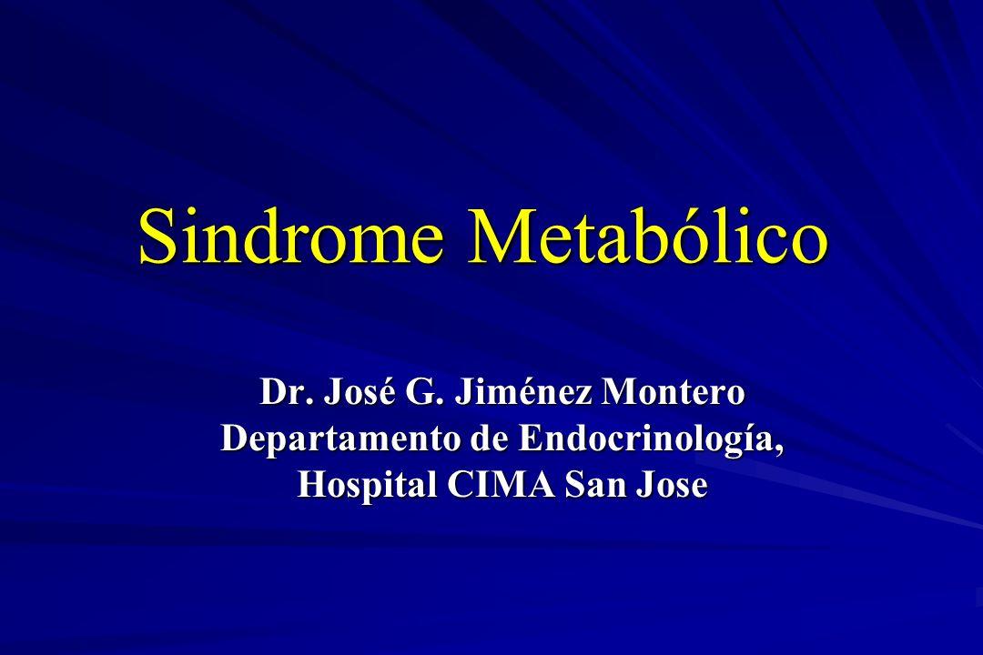 Sindrome de Resistencia a la Insulina Resistencia a la Insulina Hiperinsulinemia Obesidad Central Hipertensión diastólica y sistólica Dislipidemia – de Triglicéridos – del HDL-C –LDL pequeñas y densas (patrón tipo B) Estado Procoagulante – Fibrinógeno Plasmático – PAI-1 Anormalidades Vasculares – Excreción Urinaria de Albúmina Marcadores Inflamatorios Hiperuricemia Lebovitz, H.