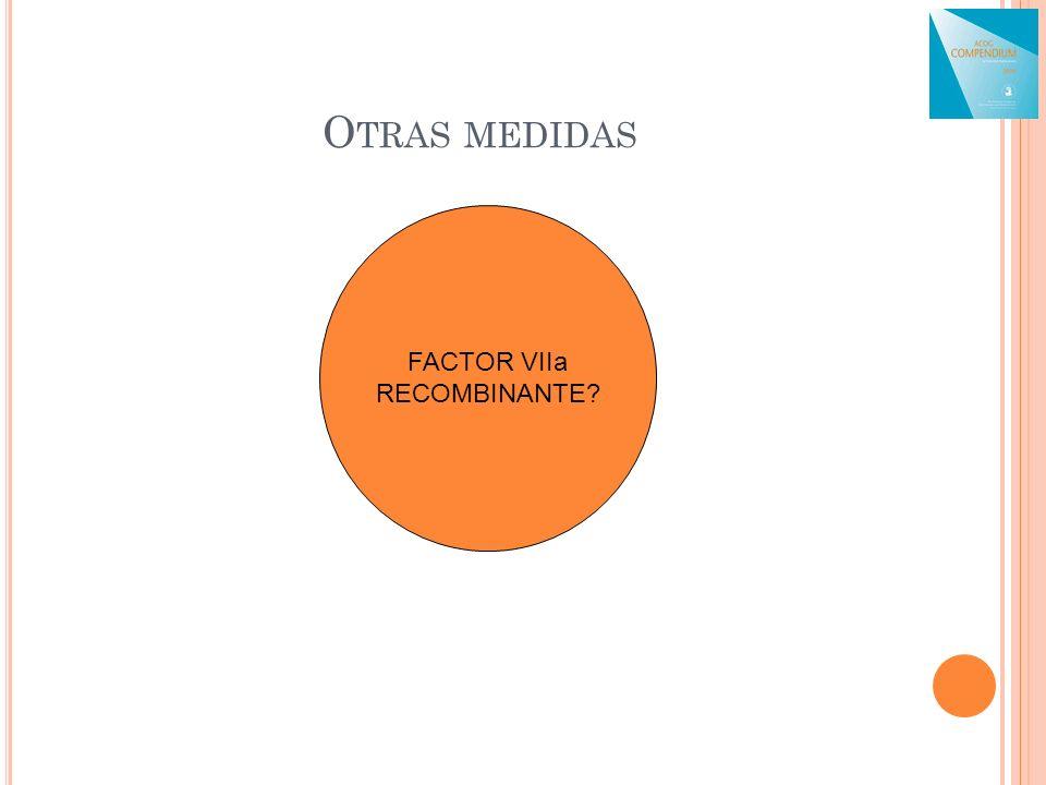 O TRAS MEDIDAS FACTOR VIIa RECOMBINANTE?