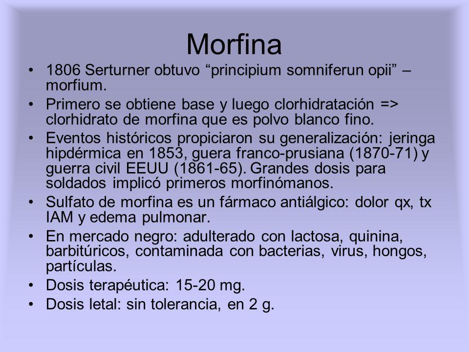 Codeína (metilmorfina) En medicina: en comprimidos o jarabe o ampollas, combinado con AAS o paracetamol.