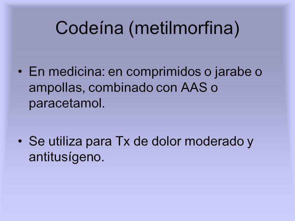 Concentraciones en sangre Morfina: Nivel terapéutico: 0.01 mg%.