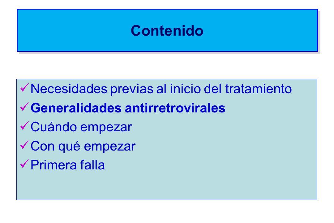 Antirretrovirales y asociaciones de antirretrovirales NO recomendados: Cualquier ARV utilizado como monoterapia - Biterapia con nucleósidos: AZT + d4T, d4T + ddI, TDF + ddI (excepto cuando no hubiere ninguna otra opción disponible) Esquemas de inicio con ITRNN asociados a IP (con o sin nucleósidos)