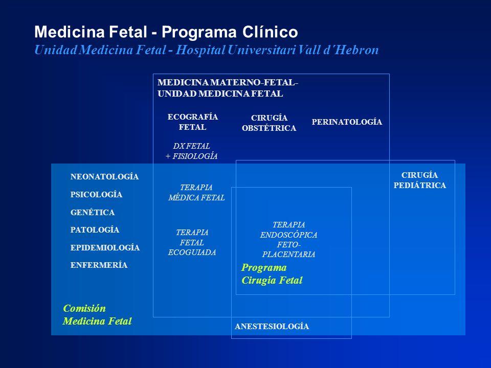 ECOGRAFÍA FETAL PERINATOLOGÍA CIRUGÍA PEDIÁTRICA DX FETAL + FISIOLOGÍA TERAPIA ENDOSCÓPICA FETO- PLACENTARIA MEDICINA MATERNO-FETAL- UNIDAD MEDICINA F