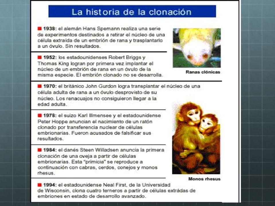 En 1997 La UNESCO declaro que la clonación humana es contraria a la dignidad humana.