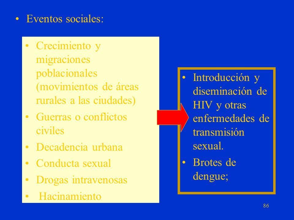 Cambios demográficos y del estilo de vida Determinan hacinamiento en barrios con alto grado de: –Exclusión social –Vivienda inadecuada –Falta de servi