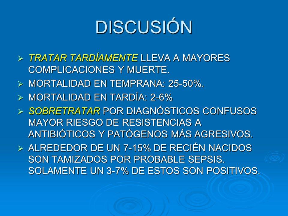 FACTORES DE RIESGO PARA SEPSIS TEMPRANA.