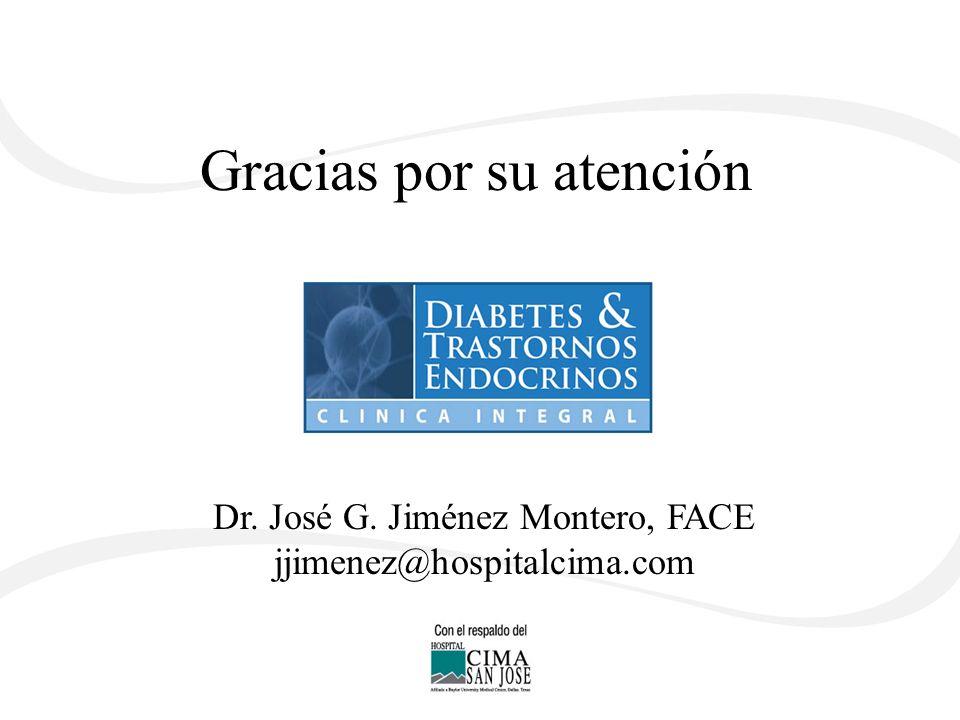 Gracias por su atención Dr. José G. Jiménez Montero, FACE jjimenez@hospitalcima.com