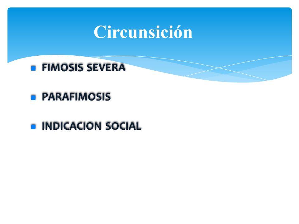 Circunsición FIMOSIS SEVERA PARAFIMOSIS INDICACION SOCIAL FIMOSIS SEVERA PARAFIMOSIS INDICACION SOCIAL PEDIATRICS Vol. 103 No. 3 March 1999 Existing s
