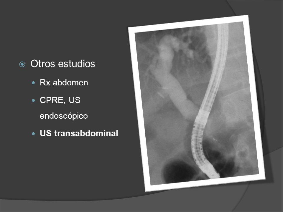Otros estudios Rx abdomen CPRE, US endoscópico US transabdominal