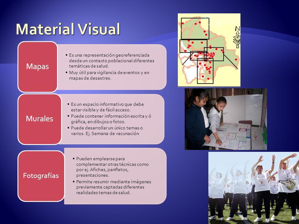 Es una representación georeferenciada desde un contexto poblacional diferentes temáticas de salud. Muy útil para vigilancia de eventos y en mapas de d