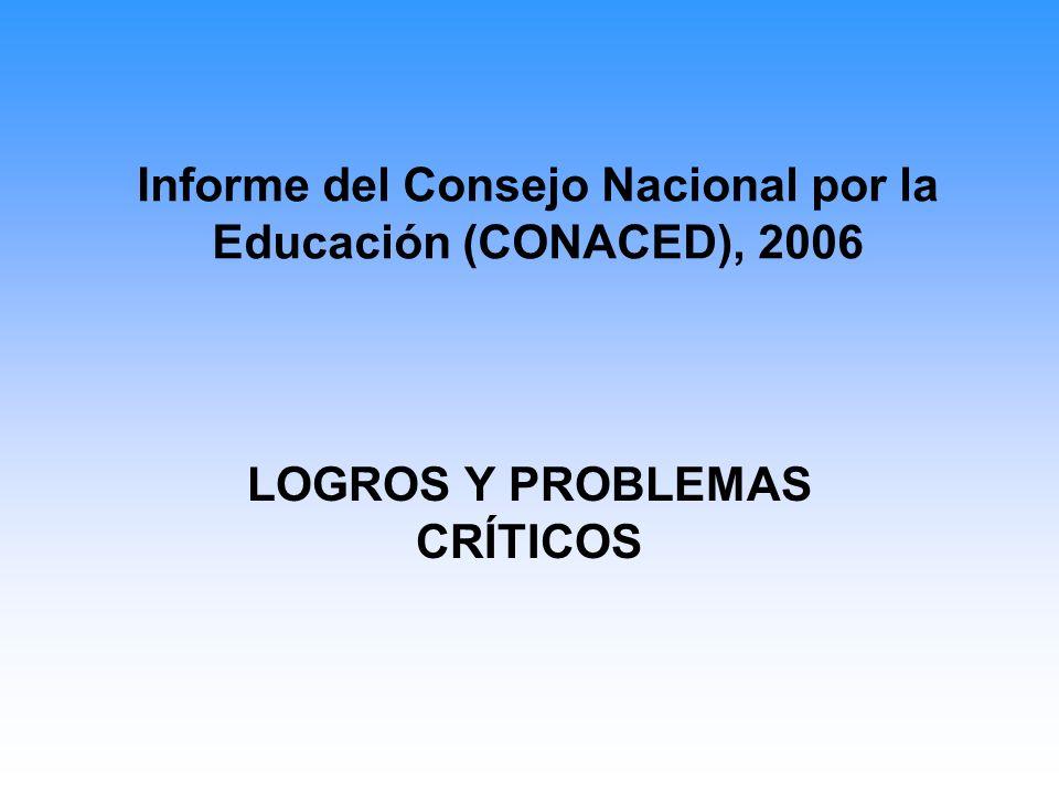 Logros 1.Expansión cuantitativa de la educación.2.Cobertura del sistema educativo.