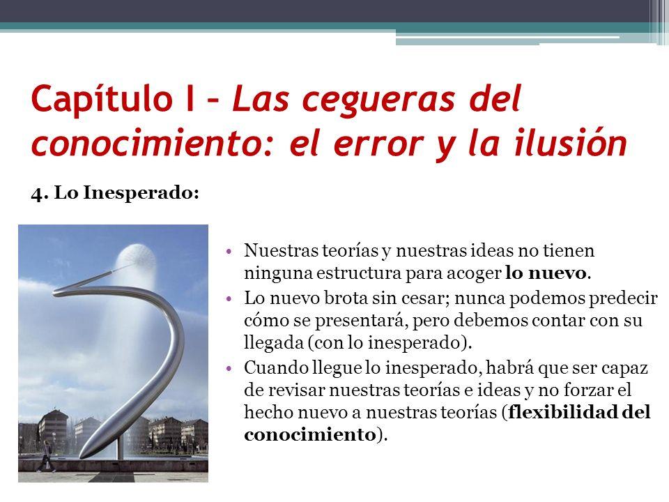 Capítulo I – Las cegueras del conocimiento: el error y la ilusión 4. Lo Inesperado: Nuestras teorías y nuestras ideas no tienen ninguna estructura par