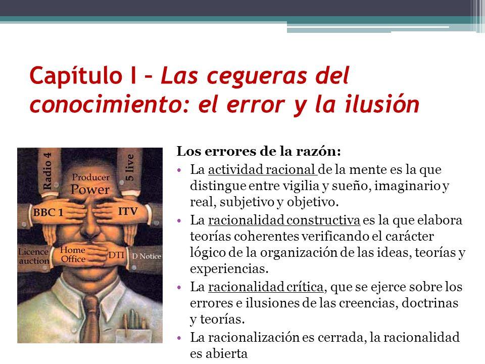 Los errores de la razón: La actividad racional de la mente es la que distingue entre vigilia y sueño, imaginario y real, subjetivo y objetivo. La raci