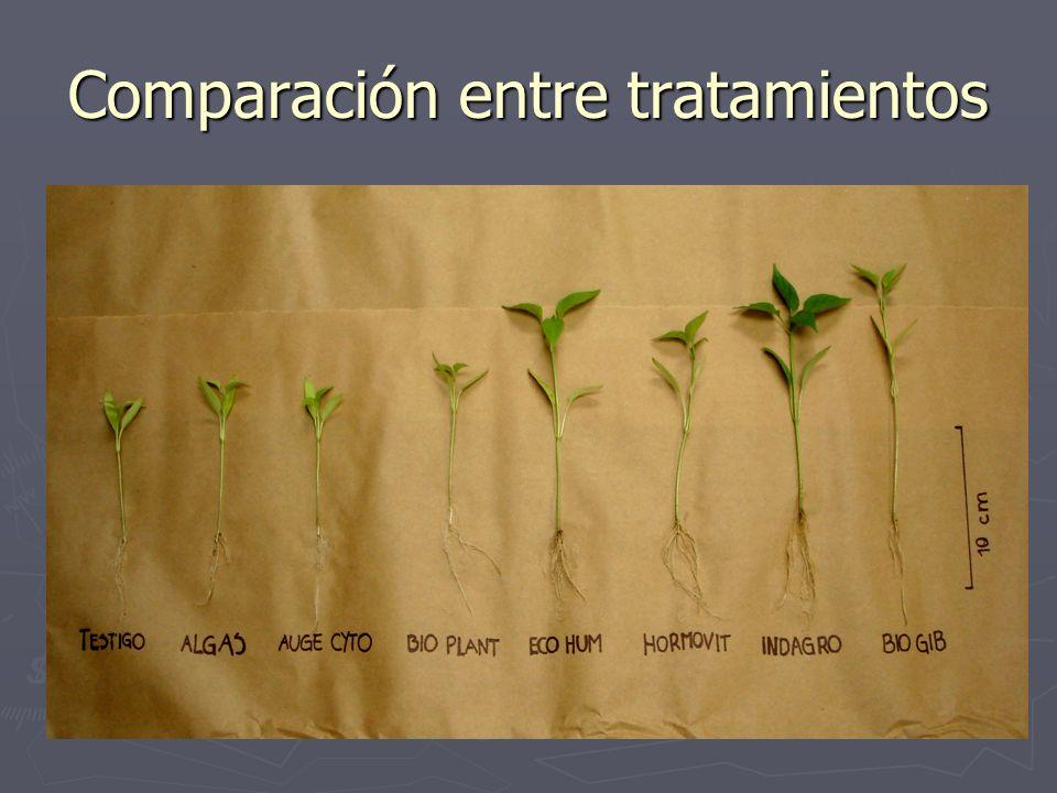Comparación entre tratamientos