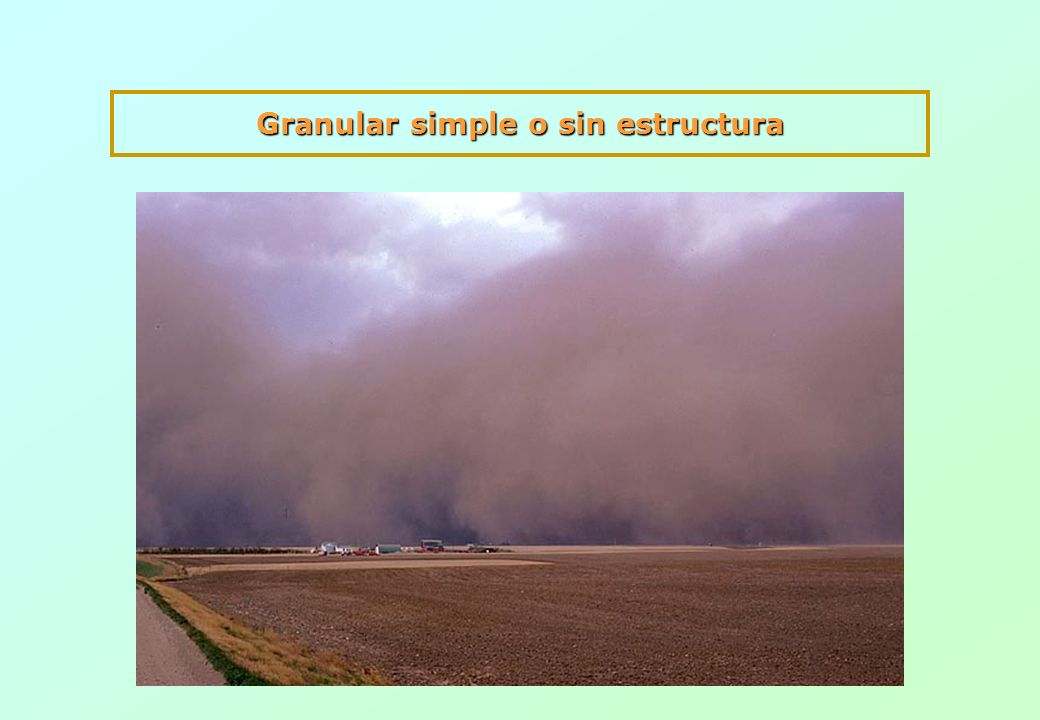 Granular simple o sin estructura