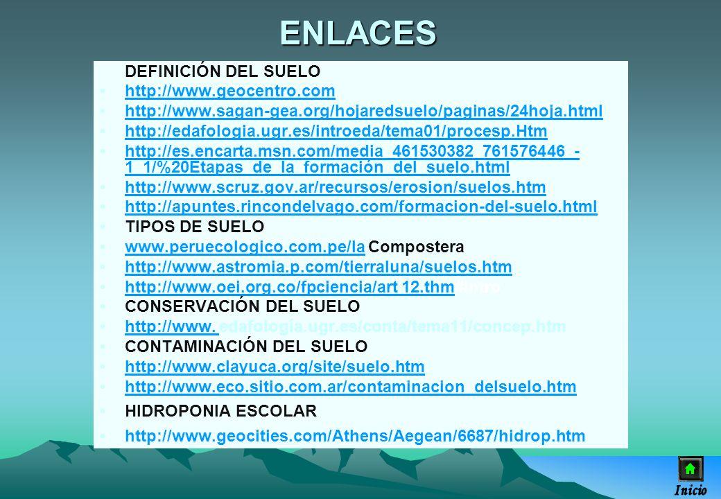 DEFINICIÓN DEL SUELO http://www.geocentro.com http://www.sagan-gea.org/hojaredsuelo/paginas/24hoja.htmlhttp://www.sagan-gea.org/hojaredsuelo/paginas/2