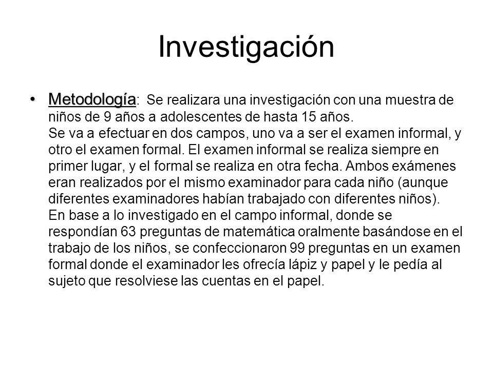 Investigación MetodologíaMetodología : Se realizara una investigación con una muestra de niños de 9 años a adolescentes de hasta 15 años.