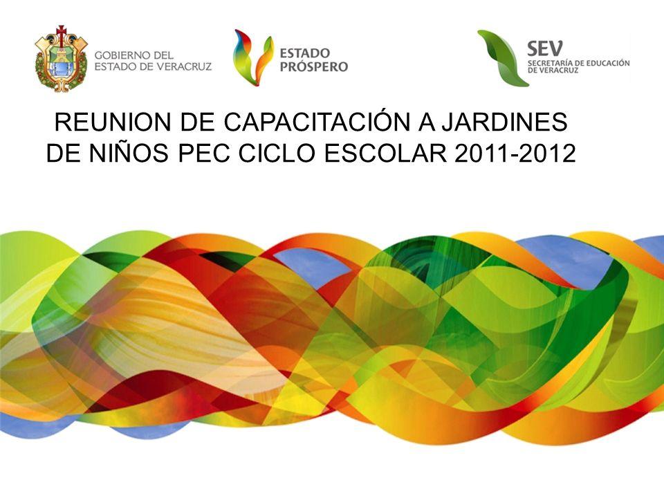 REUNION DE CAPACITACIÓN A JARDINES DE NIÑOS PEC CICLO ESCOLAR 2011-2012