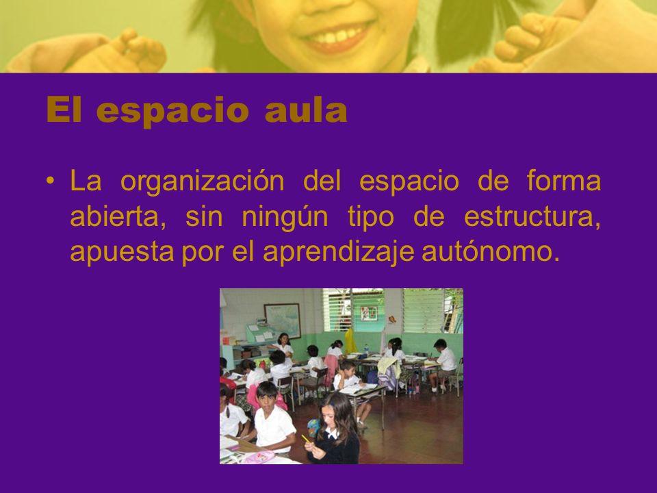 El aula en educación infantil El modelo a adoptar en el aula de Infantil es la situación no estructurada, modificable y dinámica, construyendo un espacio abierto a la interacción.