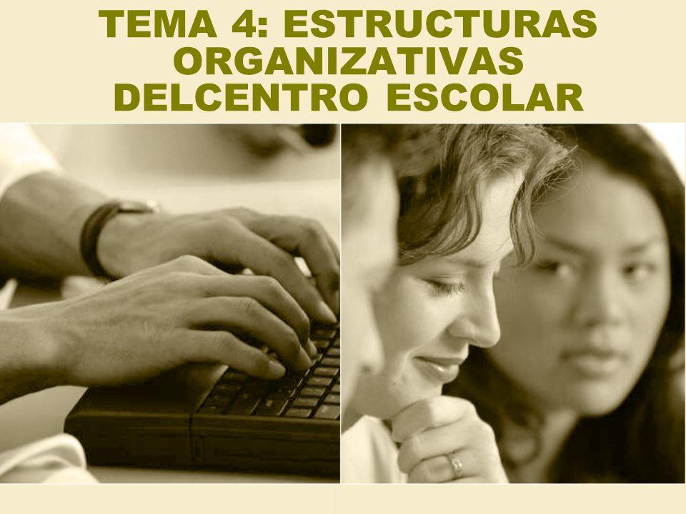 ESTRUCTURA ORGÁNICA DE UN CENTRO ORGANOS DE GOBIERNO ORGANOS DE REPRESENTACIÓN ORGANOS DE COORDINACIÓN DOCENTE UNIPERSONALES (E.D) COLEGIADOS -DIRECTOR -JEFE DE ESTUDIOS - SECRET.