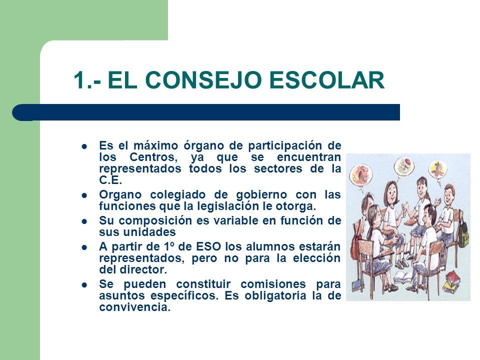 2.- EL CLAUSTRO DE PROFESORES Ostenta la representación del personal docente del Centro.