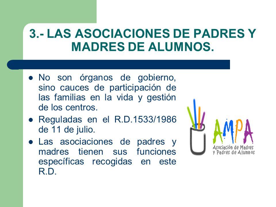 3.- LAS ASOCIACIONES DE PADRES Y MADRES DE ALUMNOS.