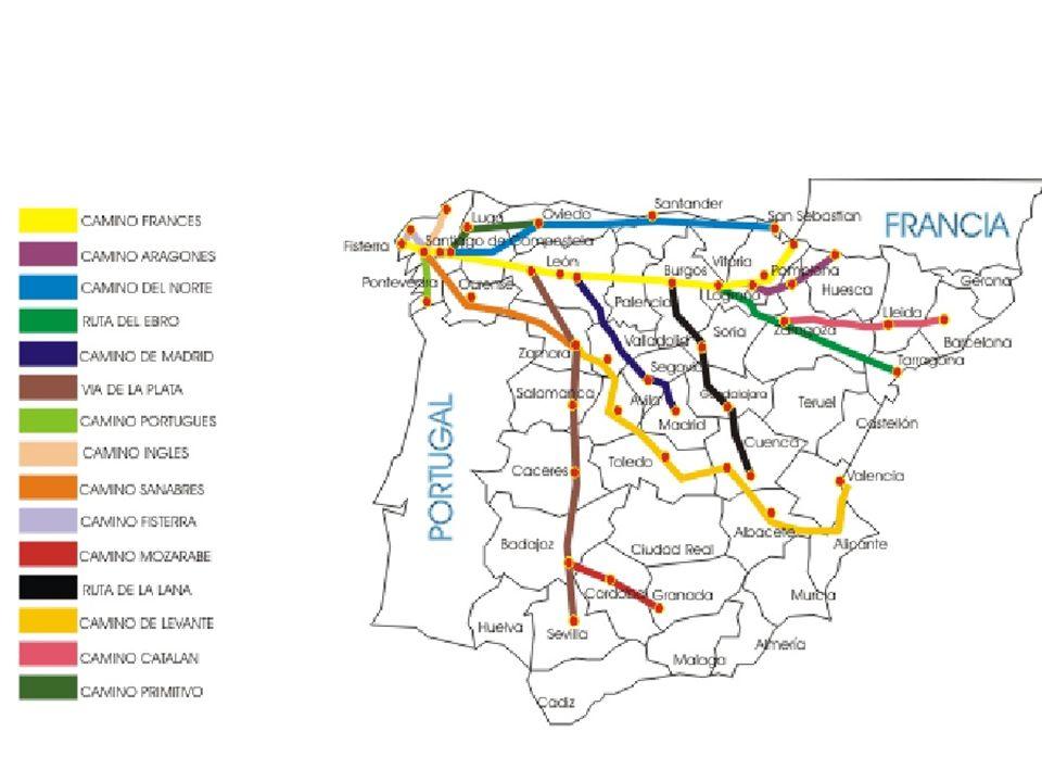 Pero los caminos más importantes son tres:: Se puede llegar siguiendo el Camino Cántabro o de la Costa o del Norte, desde Oyarzun (Oiartzun) por toda las costa Cantábrica.