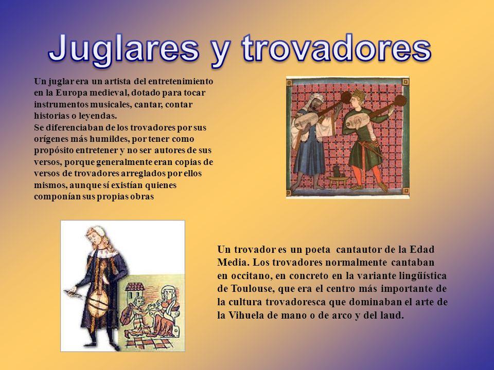 Un juglar era un artista del entretenimiento en la Europa medieval, dotado para tocar instrumentos musicales, cantar, contar historias o leyendas. Se