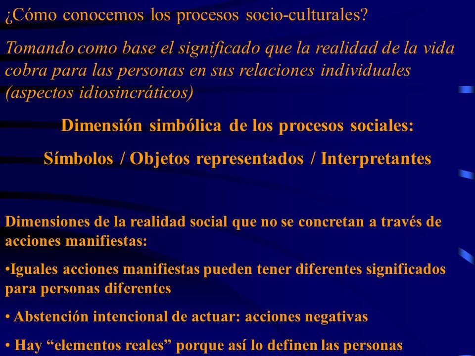¿Cómo conocemos los procesos socio-culturales? Tomando como base el significado que la realidad de la vida cobra para las personas en sus relaciones i
