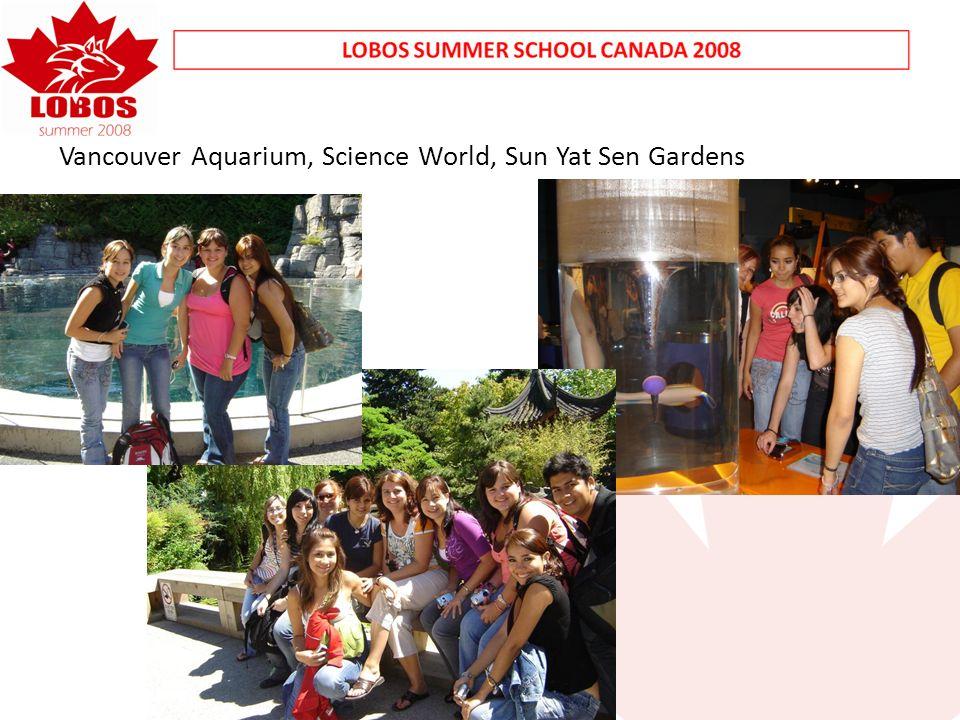 Vancouver Aquarium, Science World, Sun Yat Sen Gardens