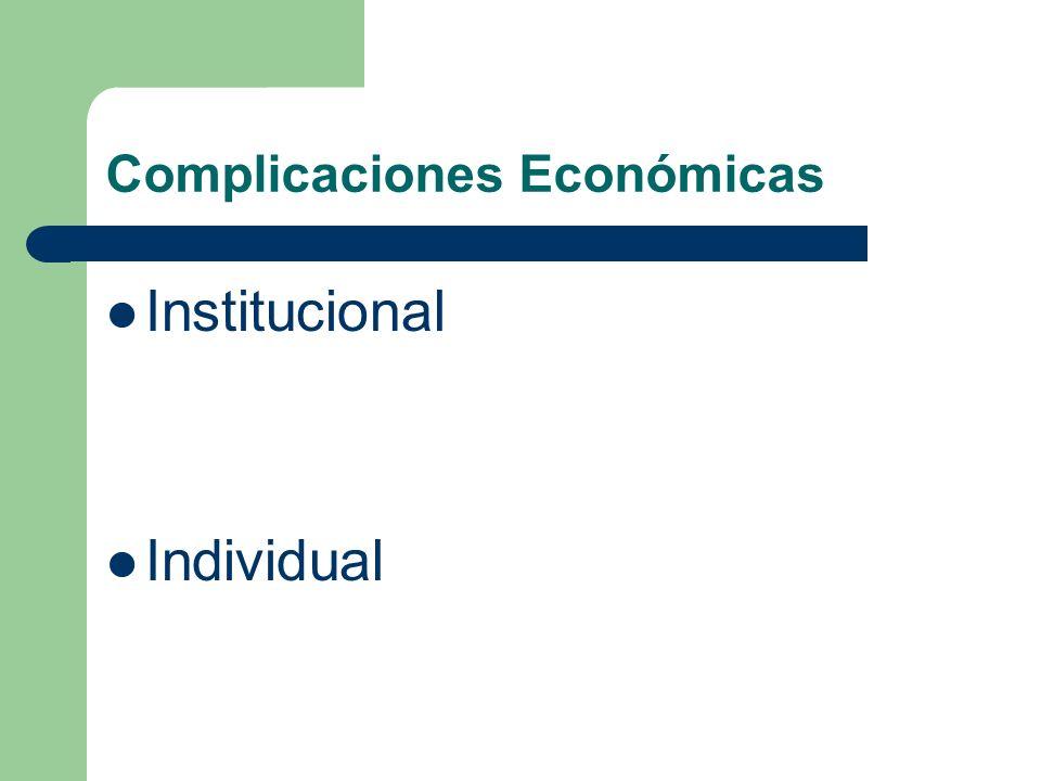 Complicaciones Económicas Institucional Individual